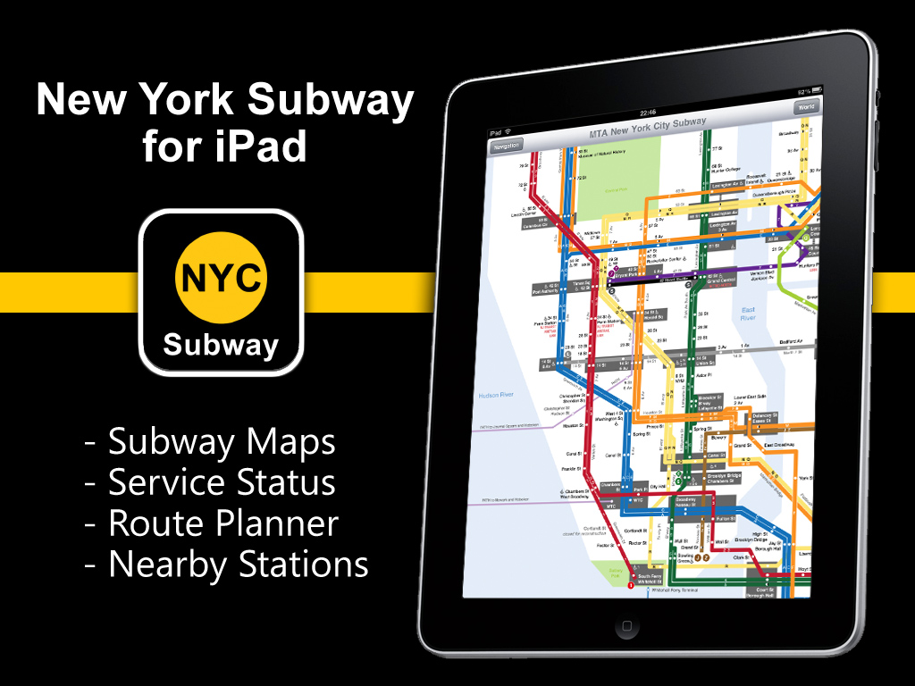 New York City Navigating Subway Map.New York Subway Application For Ipad