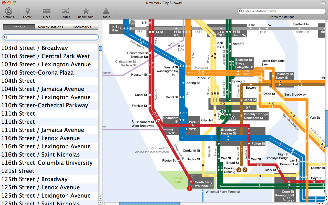 Subway Map Planner.New York Subway For Mac